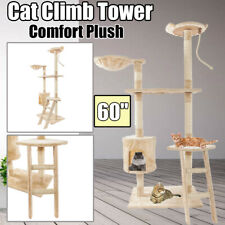 "60"" Comfort Plush Cat Tree Tower Condo Furniture Scratching Post Pet Play House"