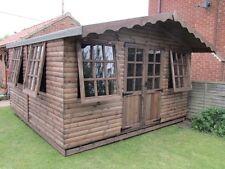 Summer House Log Cabin 14ft x 12ft With 2ft Veranda Office Bar Timber