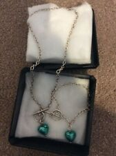 Authentic Murano glass sterling silver necklace and bracelet set
