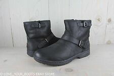 UGG DAWN BLACK LEATHER WATERPROOF SNOW WINTER  BOOTS US 11 New