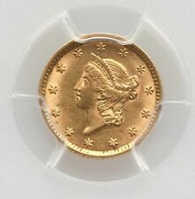 1854 PCGS AU58 $1 Gold Dollar Type 1 Small Liberty Head Nice Type Coin