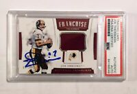 JOE THEISMANN Signed Panini National Treasures G/U Jersey Card #64/99 PSA DNA