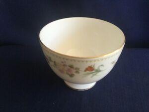 Wedgwood Mirabelle footed sugar bowl (very minor rim gilt wear)