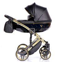 JUNAMA Fluo Line 3in1 Black + Gold NEW Stroller Pram Sportseat FREE SHIPPING
