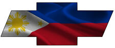 Chevy Bow Tie Philippines Flag Decal/Sticker FREE SHIPPING!!
