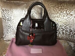 Radley Dark Brown Leather Small Grab Bag Excellent Condition