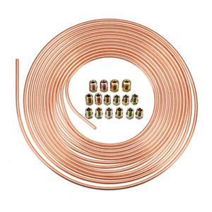 """Copper Nickel Brake Line Tubing Kit 25ft 7.62m 3/16"""" Coil Rolls Fittings Spring"""