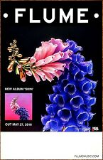 FLUME Skin Ltd Ed RARE Tour Poster Display +FREE Pop EDM Poster! ZEDD ODESZA XX