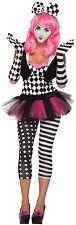 Harlequin Clown Black & White Opera Gloves Halloween Fancy Dress Accessory