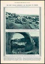 1916 antica stampa-ITALIA TRIESTE GORIZIA DISTRUTTO PONTE Vippacco Rubbia (203)