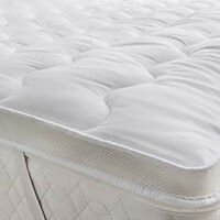 LUXURY HOTEL SOFT MICROFIBRE MATTRESS TOPPER PAD ULTRA SOFT BREATHABLE AIR FLOW