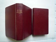 ANTHOLOGIEDES POETES FRANCAIS DE 1866 A NOS JOURS TOME 1 ET 2 DE WALCH  1958