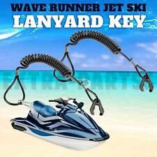 2New Pwc Jet Ski WaveRunner Key Lanyard Stop Kill Switch Safety Black For Yamaha