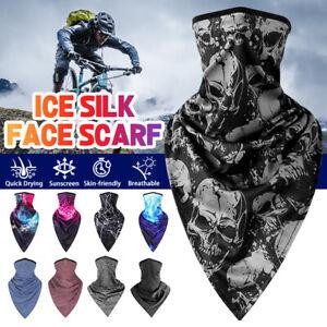 3D Skull Neck Gaiter Bandana Cycling Motorcycle Sun Shield Face Mask A