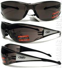 Global Vision Full Throttle CF Silver Smoke Lens Safety Glasses Sun Z87+