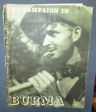 """Fascicule Edité par le Gouvernement Anglais """"Burma Campaign"""""""