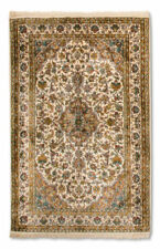 Alfombras Color principal Beige 100% seda para pasillos
