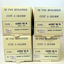 6080WA 6080 Thomson CSF France Tube 4 Pieces