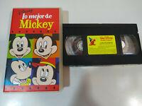 Lo Mejor de Mickey Walt Disney - VHS Cinta Tape Español