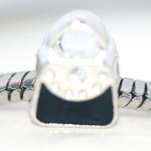 1x Silver HandBag Bead Charm Spacer Fit Eupropean Chain Bracelet Make Jewelry