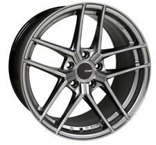19x8 Enkei TY5 5x112 +45 Hyper Silver Rims Fits VW cc eos golf jetta gti
