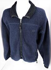 Medium REI Blue Fleece Full Zip Thick Winter Jacket Hip Vtg USA Mens M