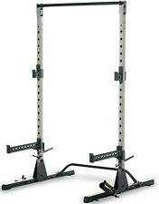 Fitness Reality Multi-Function Adjustable Power Rack Squat Stand with J-Hooks