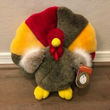 """NEWPeople Pals Plush Turkey Multi-Color 12"""" Holiday Thanksgiving"""