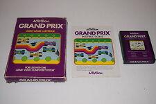 GRAND PRIX Atari 2600 Video Game COMPLETE In BOX TESTED Activision