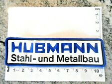Hubmann Stahl and Metallbau Company Logo patch  with FREE shipping