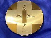 Vintage Compact Mirror Powder Case Large Silver Gold Art Deco Powder Vanity