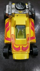Remco 1972 yellow friction car 3 speed working