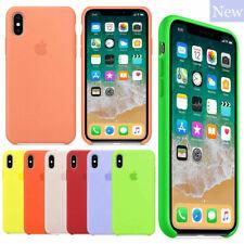 Original Silicone Leather Case For iPhone SE 2020 11 Pro Max Genuine OEM Cover