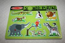Melissa & Doug Sound Puzzle Wooden Puzzle  crafted by hand Working Ages 2+