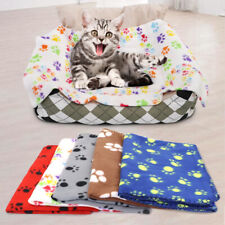 Cute Paw Print Pet Blanket Soft Washable Flannel Dog Cat Warm Mat Sofa Bed Cover
