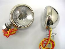 1932 Ford Deluxe Cowl Lamps '32 Lights w/ Turn Signals 12 Volt Stainless