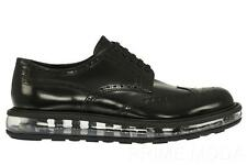 NEW PRADA BLACK LEATHER WING TIP DETAIL LEVITATE SOLE CASUAL SHOES 9/US 10