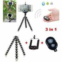 Large Flexible Tripod Octopus Phone Holder Bluetooth Remote Control For iPhone