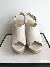 NINE WEST NWIMENA Cream Wedge Sandals Size 9 $99.00