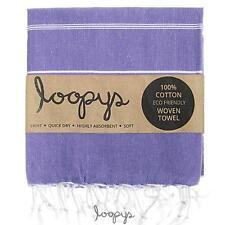 Premium Violet Purple Loopy Cotton Turkish Towel Beach Pool Bath Peshtemal Fouta