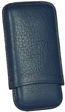 MARTIN WESS BLUE COWHIDE/ GOATSKIN LEATHER 5 CIGARILLO CASE ** NEW **