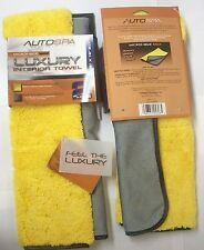 (2) CARRAND 2 SIDED LUXURY MICROFIBER SOFT TOUCH CAR WASH & DETAILING TOWEL