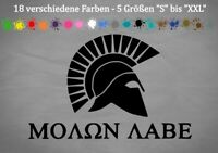 The Punisher Molon Labe Autoaufkleber Greek Tuning JDM Vinyl 18 Farben 5 Größen