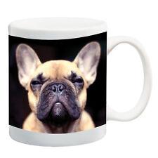French Bulldog face, Black ceramic mug coffee cup tea cup