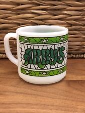 Vintage Federal Milk Glass - ARBY'S - Stained Green Coffee Mug Cup