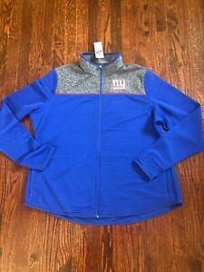 NWT NFL New York Giants Women's Fleece Full-Zip Jacket Blue Size 3XL