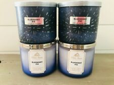 4 Bath & and Body Works Candle Blueberry Pie 3 Wick 14.5 oz New