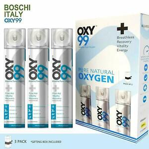 Oxy99 Portable Oxygen Cylinder Can 6 liters 99% Pure Oxygen - Pack Of 3