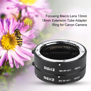 Meike MK-RF-AF1 Auto Focus Macro Extension Tube Ring 13mm+18mm For Canon EOS RP