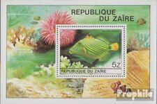 zaïre zaïrois Bloc 38 (complète edition) neuf avec gomme originale 1980 tropique